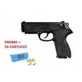 BRUNI PISTOLA A SALVE P4 CALIBRO 9MM NERA + 50 CARTUCCE FIOCCHI (BR-2601+FI9)