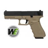 Pistola Glock G18C Scarrellante A Gas Nera/Tan WE (W059BT)