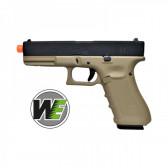 Pistola Glock 17 Ultima Generazione Scarrellante A Gas Nera/Tan WE (W057BT)