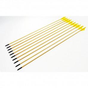 """10 frecce in legno da 78 cm 29"""" per arco 20 - 65 libbre (D002-10)"""