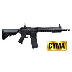 """Fucile Elettrico Serie M4 Keymod 9"""" CM068B Full Metal Nero Completo Cyma (CM068B)"""