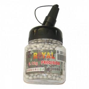 ROYAL PALLINI 0,12G 1000 PEZZI BIANCHI (BB 1000 0,12)