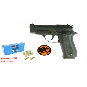 Bruni Pistola A Salve Beretta 84  9mm + 50 CARTUCCE FIOCCCHI (BR-2700 + F19)