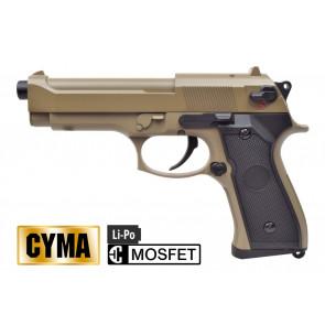 CYMA PISTOLA ELETTRICA C18 MOSFET TAN CM126UPT