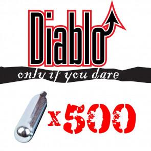 500 Bombolette CO2 12gr DIABLO (C500DIABLO)