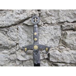 Spada Templare con Fodero Nero
