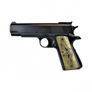PISTOLA DOUBLE EAGLE MODELLO C45 BLACK COMBAT EAGLE GREEN GAS (HG 123B)