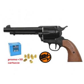 BRUNI GUNS PISTOLA A SALVE CALIBRO 380 6 COLPI NERA + 50 CARTUCCE (BR-400)