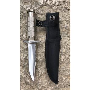 Coltello Survival Rambo + Kit Sopravvivenza silver COLFD3050