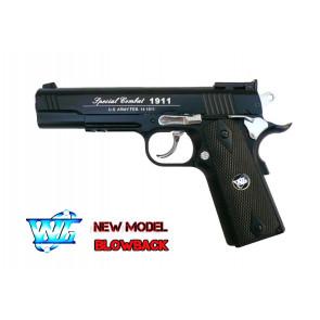 Pistola Colt 1911 Nera Scarrellante Co2 (C 601B)