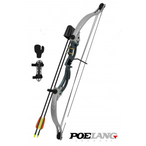 "POELANG ARCO COMPOUND ""KIRUPIRA"" 18-28 lb SILVER FULL KIT CO 013BL"
