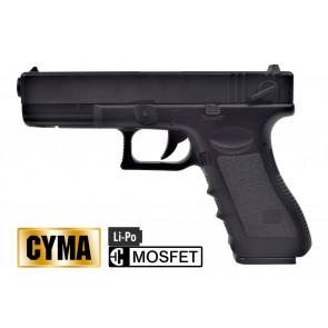 CYMA PISTOLA ELETTRICA C18 MOSFET NERA CM030UP