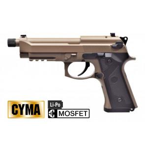 CYMA PISTOLA ELETTRICA M92 MOSFET COL/TAN FULL METAL CM132UPT