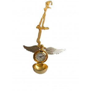 Collana  Harry Potter Boccino D'oro Con Orologio