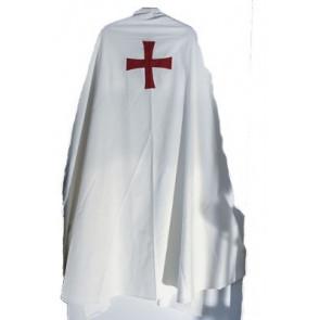 Mantello Bianco + Croce Templare Rossa