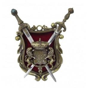 Trofeo medievale grande con spade K590-1B