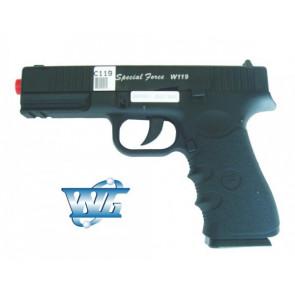 WIN GUN PISTOLA A CO2 SCARRELLANTE GLOCK  W119 SPECIAL FORCE (C119)