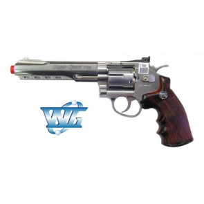 REVOLVER 702 SILVER FULL METAL CO2 WIN GUN CON TAMBURO ROTANTE (C 702S)