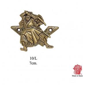 Coppia di supporti da muro per spade e katana samurai oro 0SP10L