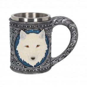 Boccale con lupo bianco