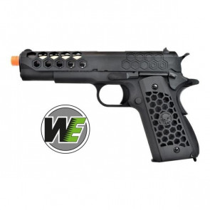 Pistola A Gas 1911 Hex Cut GEN2 - Scarrellante - Full-Metal CNC - Nero - WE (WE16B)
